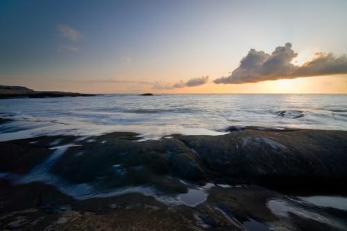 Sunset on the island Hönö in Sweden