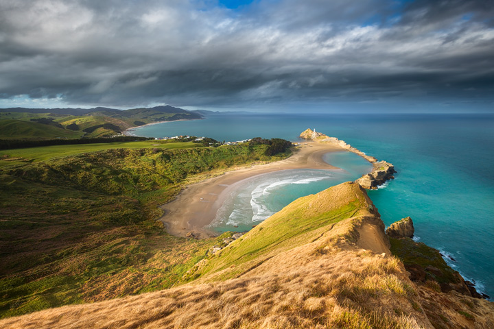 View of Castlepoint coastline from Castle Rock