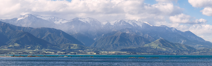 Kaikoura Mountains on a hazy day