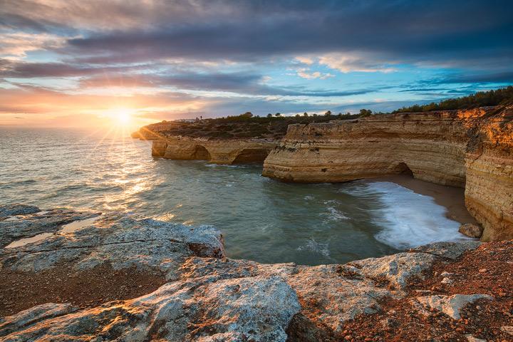 Algarve Coastline during sunset
