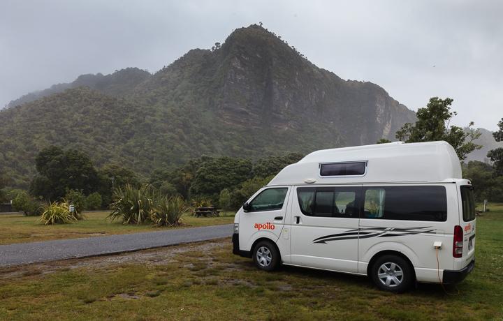 Rainy Campsite at Punakaiki