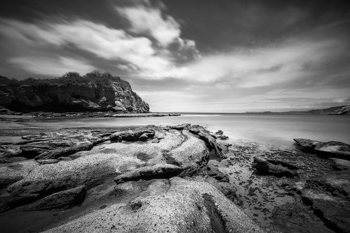 The rocky coast of the Machalilla national park