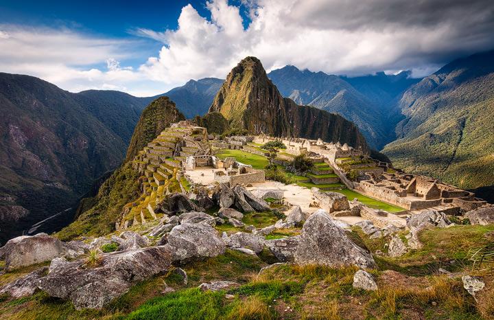 Machu Picchu in golden afternoon light