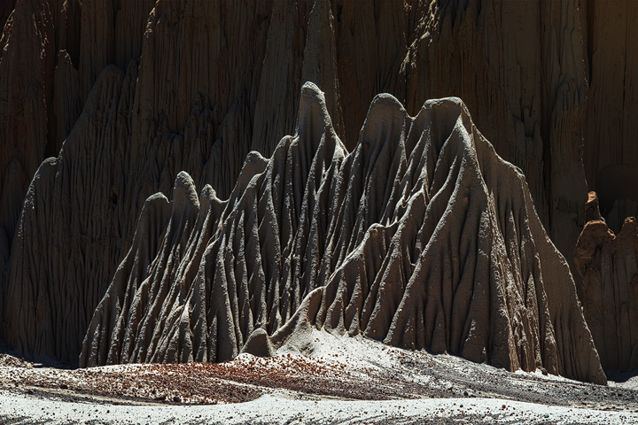 Rock formations formed by wind and water in bolivian highlands