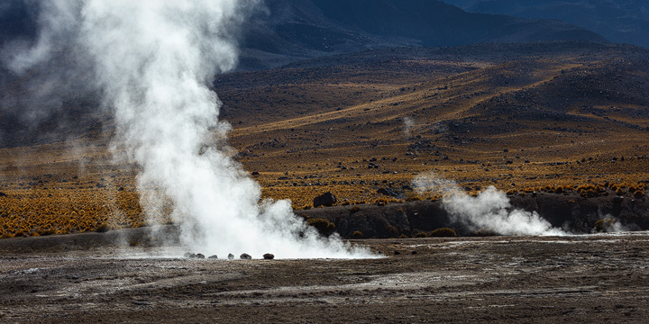 The huge vents of the Tatio Geysers