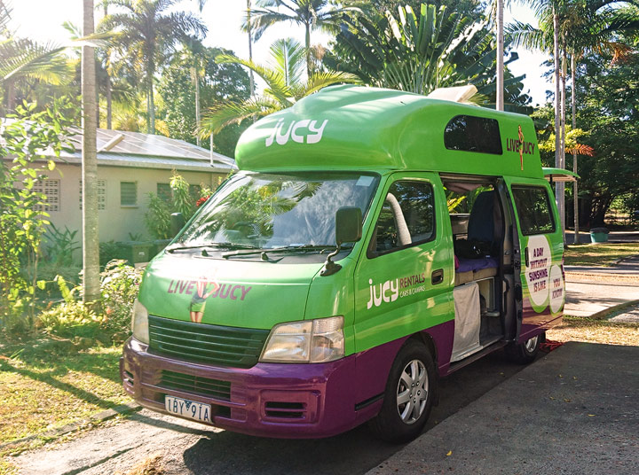 Our Campervan for our travels through Australia