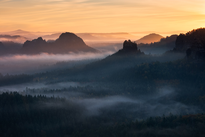 Autumn mood in Saxony Switzerland