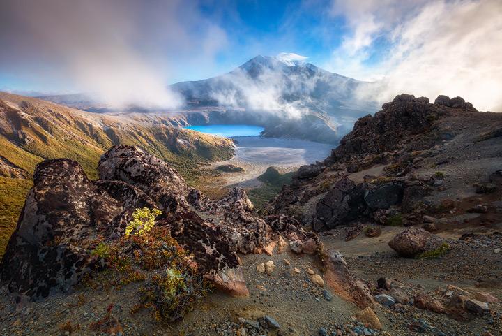 Lower Tama lake and Mount Ruhapeu