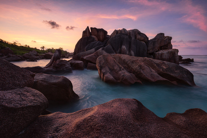 The rocks at Anse Coco on La Digue