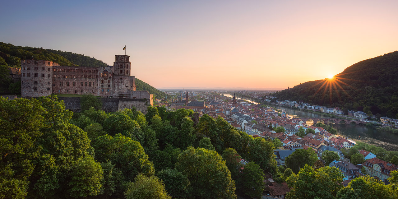 Sunset Panorama of Heidelberg