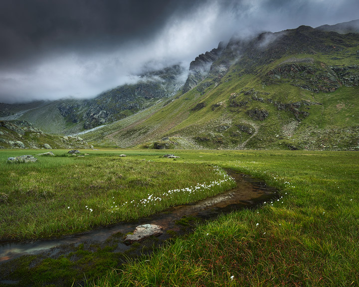 Moody Mountain atmosphere in the Stubai Valley