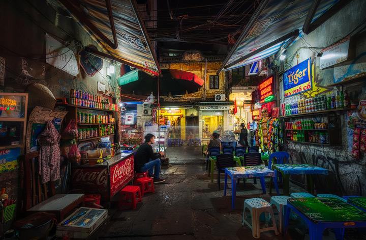 Nighttime in Hanoi's Old Quarter