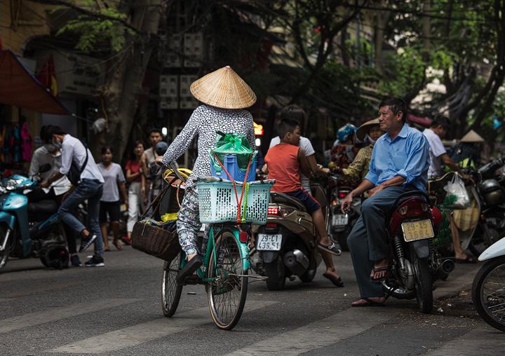 Busy street in Hanoi