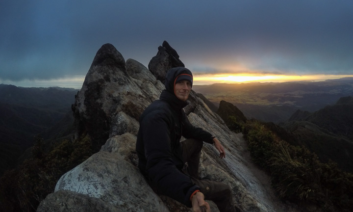 Stormy morning on top of the Pinnacles