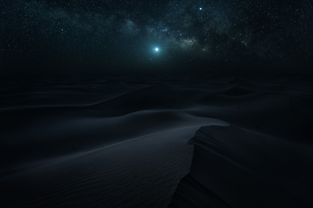 The Milky Way over the Desert of Morocco
