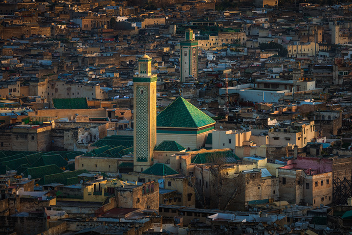 The medina of Fes before sunset
