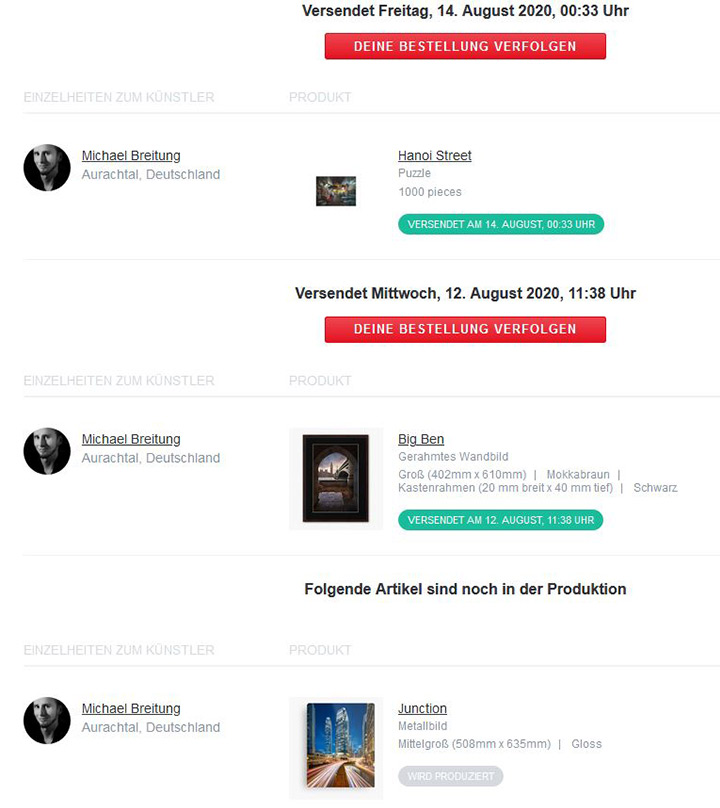 Redbubble Order Updates