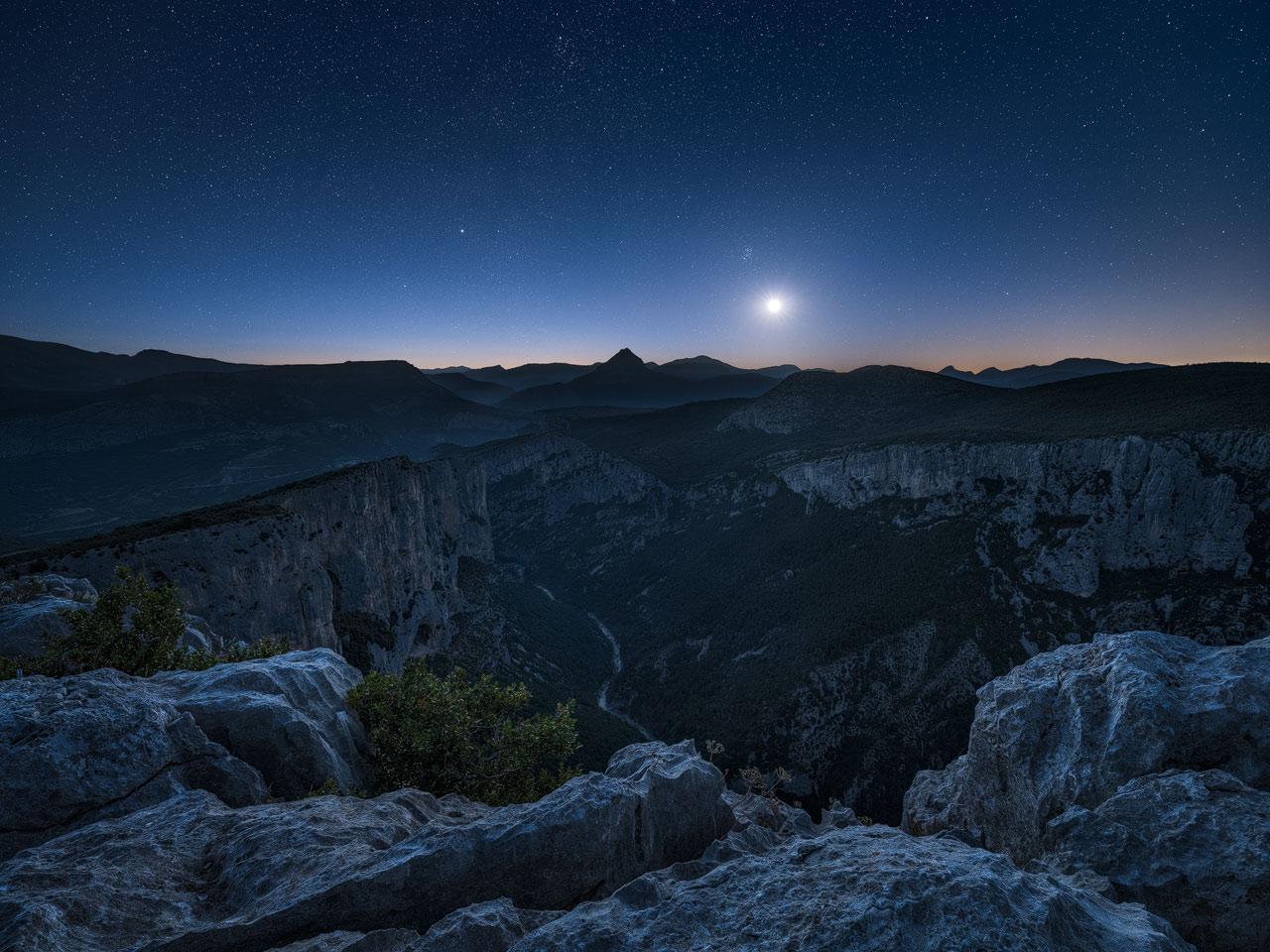 Night Photography Example - Verdon Moonrise