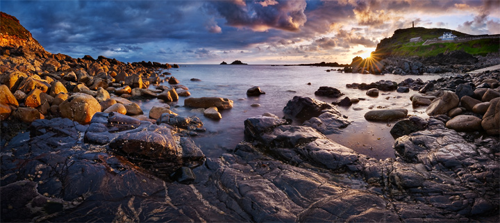 Panorama of the Priest Cove at Cape Cornwall
