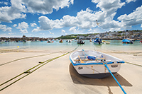 The picturesque fishing town St. Ives on a sunny day.